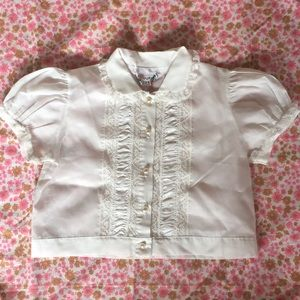 Hickory Dickory Shirts & Tops - PoshMini Silky White Lace Blouse